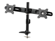 "Amer Networks Amr2p Dual Monitor Pole/Grommet Mount - Supports two 24"" monitors weighing up to 26.5 lbs. VESA compatable"