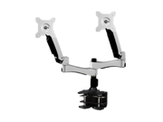 "Amer Networks Amr2ac Dual Monitor Articulating Clamp Mount - Supports two 27"" monitors, VESA compatable"