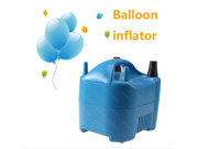 IMAGE® High Power Electric Balloon Inflator Pump Portable Blue Air Blower w/Two Nozzle + 20pcs free balloons