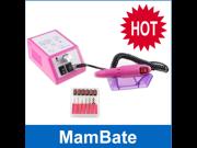 IMAGE® Professional Electric Nail Drill Manicure Pedicure File Art Manicure Polishing Machine Drill File Pen Kit 6 Bits Multi Color
