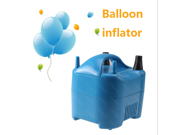 IMAGE® Super High Power Electric Balloon Inflator Pump Portable Blue Air Blower + [ 2 x Nozzle + 20 x Balloons]