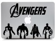 "Avengers art decor macbook decal for mac 13"" 15"" laptop skin applique vinyl sticker removable superhero characters silhouette hulk/thor/ironman/captain amerca"