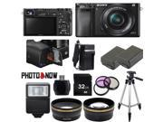 Sony Alpha A6000 Mirrorless Digital Camera with 16-50mm Lens (Black) Professional Bundle