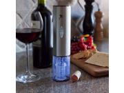2-Piece Set: Electric Stainless Steel Wine Opener & Foil Cutter