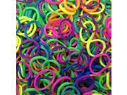 2500-Piece Set Neon Loom Bands in Assorted Colors
