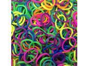 2500-Piece Set Neon Loom Bands in Assorted Colors