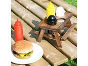 Smokin' Grill Miniature Picnic Table Condiment Set