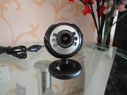 6 LED HD Webcam USB 2.0 50.0M PC Camera Web Cam with MIC for Computer PC Round 6LEDA26