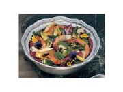 2 qt 10 1/2 x 3 1/4 H inch Queen Anne Salad Bowl Pewter Glo 3 Ct
