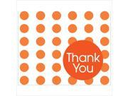 Foldover Thank You Cards Sunkissed Orange Dots 48 Ct