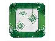Falling Flakes 7 Inch Lunch Plates Square