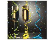 New Year Pop Beverage Napkins 2 Ply