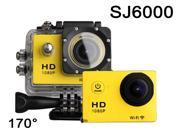 Yellow SJ6000 Sports HD DV sj 6000 12MP Full HD Action Sport DV Waterproof Camera Car Cam 1080P HDMI WiFi LCD Screen