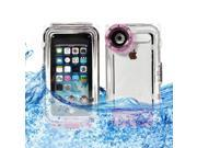 BESDATA IP8X Real Waterproof Box Case with Camera Hole For iPhone 5 5C 5S - Taking Photos Underwater Up To 40 Meters 133Ft Purple
