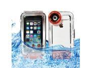 BESDATA IP8X Real Waterproof Box Case with Camera Hole For iPhone 5 5C 5S - Taking Photos Underwater Up To 40 Meters 133Ft Orange