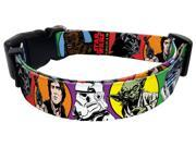 "Star Wars Dog Collar Size: Small (Fits 8"" to 12"" Neck), Design: Classic"