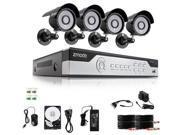Zmodo 8CH 960H P2P Security DVR System & 4 600TVL Sony CCD Cameras 1TB HDD