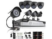 Zmodo 8CH 960H P2P DVR Security System w/ 8 600TVL Outdoor Sony CCD IR Cameras