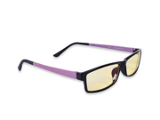 CORN Optiks YJ-2 Full Rim Advanced Video Gaming Eyewear Glasses with Headset Compatibility and Amber Lens Tint,flexible Beta Memory Polymer. (New version purple )