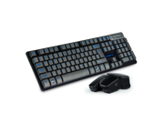 CORN 2.4GHz Wireless Mechanical Gaming Keyboard & Mouse With Unique Ergonomic Design, Suspension Buttons, 19 Keys Anti-Ghosting Feature, and Long Standby Technology - Black