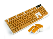 CORN 2.4GHz Wireless Mechanical Gaming Keyboard & Mouse With Unique Ergonomic Design, Suspension Buttons, 19 Keys Anti-Ghosting Feature, and Long Standby Technology - Orange