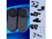 New 2 x1000M BT Motorcycle Bluetooth Multi Interphone headsets helmet intercom