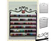Professional Black Metal Nail Polish Mountable Organizer Display Rack US Seller