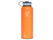 Hydro Flask 40oz Insulated WideMouth Stainless Steel Drinking Bottle-Orange Zest