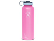 Hydro Flask 40oz Insulated Wide Mouth Stainless Steel Drinking Bottle-Pinkadelic