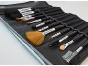 Professional 12-Piece Make-up Brush Set with Leather Pouch