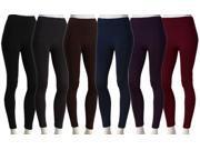 6 Pairs: Fleece-Lined Seamless Leggings