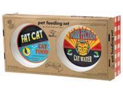 ORE Pet Vintage Cat Feeding Set