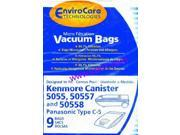 Kenmore 5055, 50557, 50558 Envirocare Brand - MEGA DEAL -7 PACKS (Total 63 bags) (137-9)