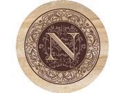 Thirstystone Monogram N - Sandstone Coaster Set Of 4