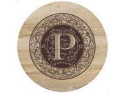 Natural Sandstone Trivet Monogram P