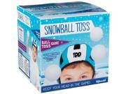 Snowball Head Toss Game - 2 Target Hats with Printed Scores & 3 Fuzzy Balls