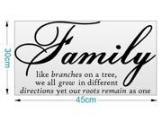 Family Like Branches Removable Vinyl Wall Sticker Decal Quotes Art Home Decor