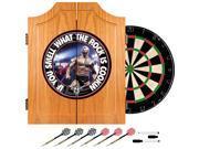Trademark Poker WWE7000-RK-B WWE The Rock Dart Cabinet Set
