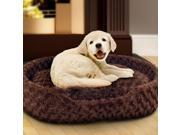 PAW Cuddle Round Plush Pet Bed - Small - Brown