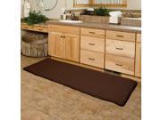 Lavish Home Memory Foam Extra Long Bath Rug Mat - Chocolate - 24x60