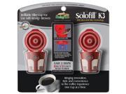 SOLOFILL 10720-01-CHROME Refillable Filter Cup for Keurig(R) 2 Pack