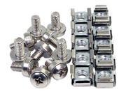 StarTech.com 50 Pkg M6 Mounting Screws and Cage Nuts for Server R ...