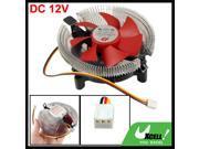 DC 12V Metal Bowl Shaped 3 Pins Connector CPU Cooler Fan for Intel LGA 775 AMD