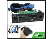 """5.25"""" USB 3.0 Ports All In One Card Reader Fan Controller HD Audio"""