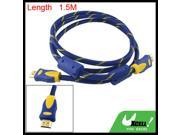 1.5M Male to Male PC 19 Pin HDMI Extension Cable Cord Jliwf