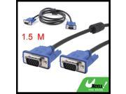 1.5 Meter 3+5 VGA 15 Pin Male to Male Plug Computer Monitor Cable Wire Cord