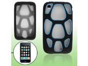 Baby Blue Silicone Big Hole Shell Skin for iPhone 3GS