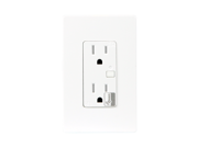 Enerwave ZW15R Z-Wave Wireless 120VAC 15A Temper Resistant (TR) Duplex Receptacle with Two Free Wall Plates
