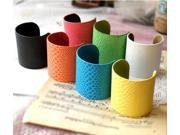 New 2014 wholesale gifts exaggerate colorful snake leather punk style cuff bracelets and bangles
