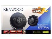 "Kenwood KFC-1395PS Performance Series 5-1/4"" 3-way Flush Mount Coaxial Speakers"